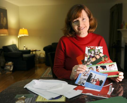 """A lot of my friends aren't sending real cards this year,'' said Peg Willingham. ""I suspect every year it will decline, just like the rest of Western civilization.''"