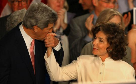 Senator John Kerry, with his wife, Teresa.