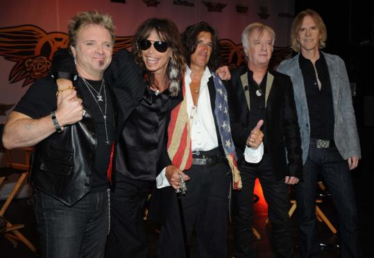 From left: Aerosmith's Joey Kramer, Steven Tyler, Joe Perry, Brad Whitford, and Tom Hamilton.