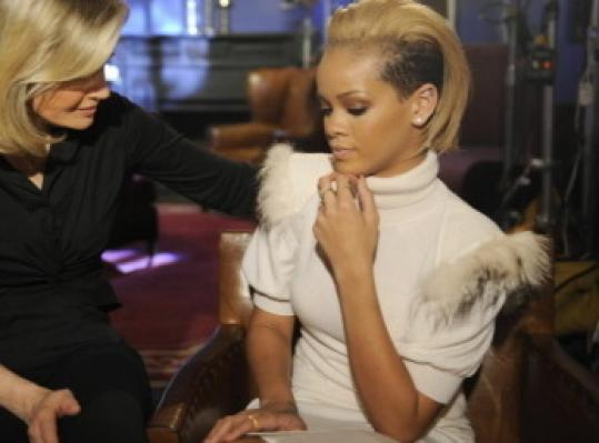 Rihanna opened up about her abuse at the hands of Chris Brown to Diane Sawyer on ABC.