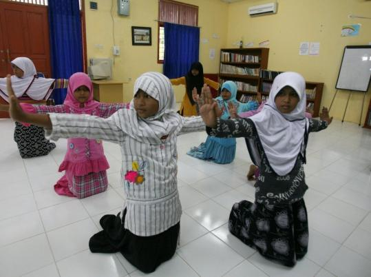 Children recently performed a traditional Indonesian dance at an orphanage in Banda Aceh, near the epicenter of the 2004 Tsunami that killed more than 230,000 people.