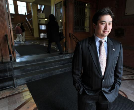 Leland Cheung is the first Asian-American, and the first student, elected to Cambridge City Council.