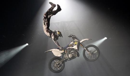 The Nuclear Cowboyz will mix high-flying motorcycles with special effects and scantily clad dancers to create drama.