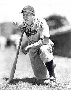 Stan Benjamin played with the Philadelphia Phillies from 1939 to 1942 and the Cleveland Indians in 1945.