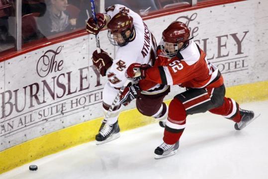 St. Lawrence Scores 5 Unanswered, Stuns No. 5 BC 5-2