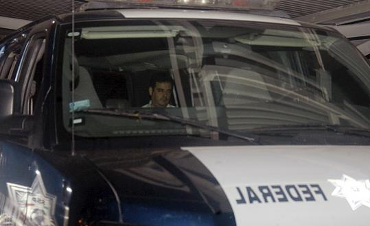 Carlos Beltran Leyva, shown here in a police vehicle at an undisclosed location, was arrested by Mexican authorities in Culiacan, the capital of the Pacific coast state of Sinaloa, where he and his brothers allegedly started their gang.