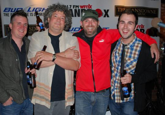 """The Sandbox'' crew in happier days: Ed Oliveira, Henry Santoro, Charlie Padgett, and Dustin ""Fletcher'' Matthews."