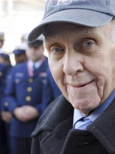 "Seymour wittek was awarded the Coast Guard Commendation Medal aboard the Intrepid Sea, Air and Space Museum. ""Those men really put their lives on the line,'' he said of his colleagues."