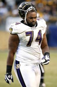 "Michael Oher, whose personal life is dramatized in ""The Blind Side,'' has been outgoing and engaging with his teammates."