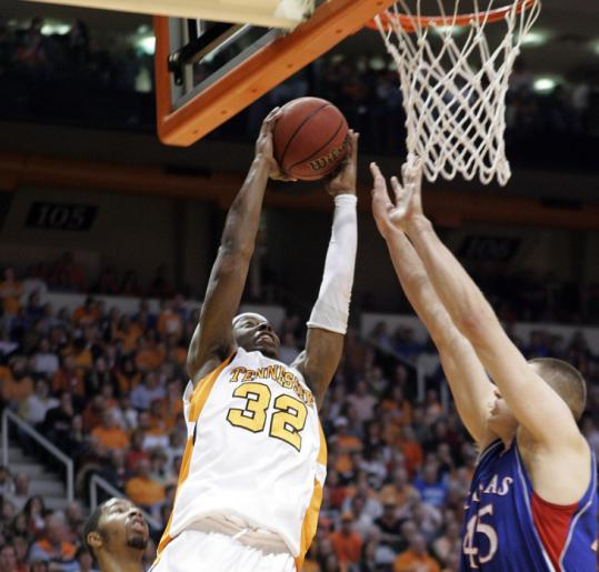 Scotty Hopson helped Tennessee soar past top-ranked Kansas, scoring 17 points for the shorthanded Volunteers.
