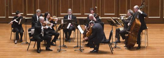 The Boston Symphony Chamber Players performing at Jordan Hall on Sunday.
