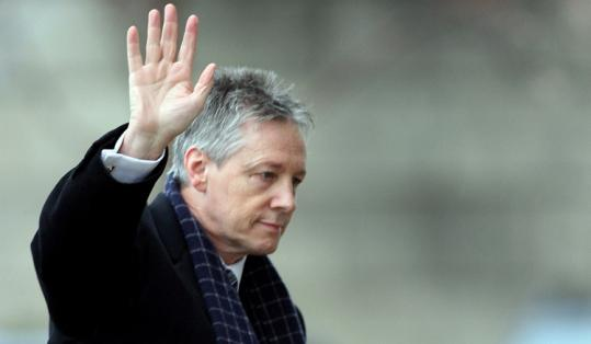 First Minister Peter Robinson, in Stormont yesterday, denied any wrongdoing and said his wife was in psychiatric care.