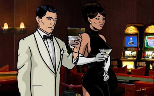 "H. Jon Benjamin and Aisha Tyler give voice to two of the characters in ""Archer, a new half-hour animated series on FX."
