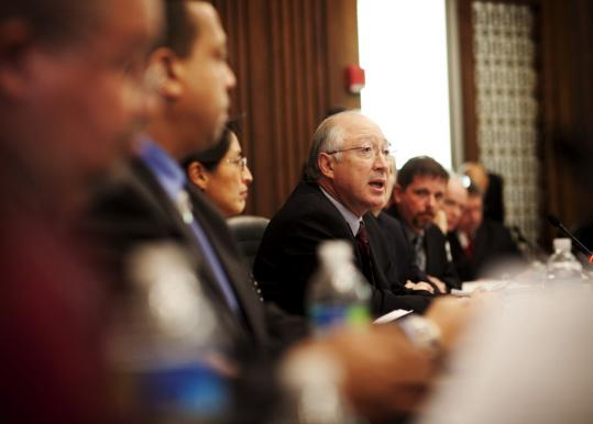 Secretary of the Interior Ken Salazar held a meeting yesterday in Washington, D.C., between Cape Wind developers, Native Americans, and preservation officials. Salazar said the nine-year project permitting process would conclude by the end of April.