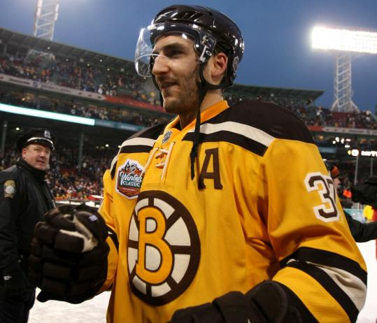 Patrice Bergeron got a chance to play in Fenway Park this month, and in February he'll be on an even bigger stage: the Olympics.