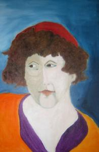 A portrait of Ruth Lepson by Celia Gilbert. The two poets met as MFA students at Boston University.