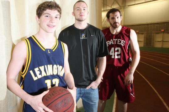 The O'Keefe brothers: Chris, a sophomore at Lexington High; Dan, a freshman at Bentley; and Bates College senior Jimmy.
