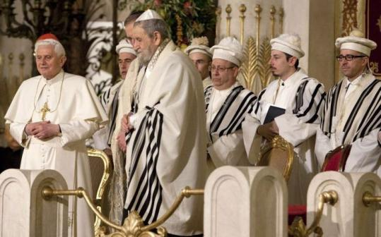 "Pope Benedict XVI told Jewish leaders that the Vatican ""itself provided assistance, often in a hidden and discreet way.''"