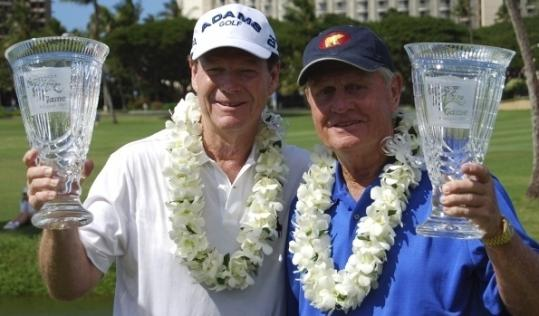Tom Watson (left) and Jack Nicklaus teamed to win the Champions Skins Game in Hawaii.