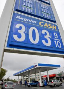 Gas prices are up 15 cents per gallon from a month ago.