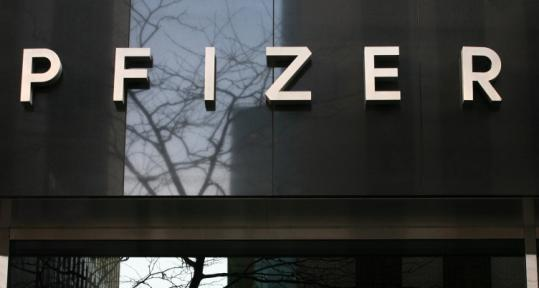 Pfizer Inc. was among health stocks that rose yesterday. Its shares closed at $20, up 51 cents per share.