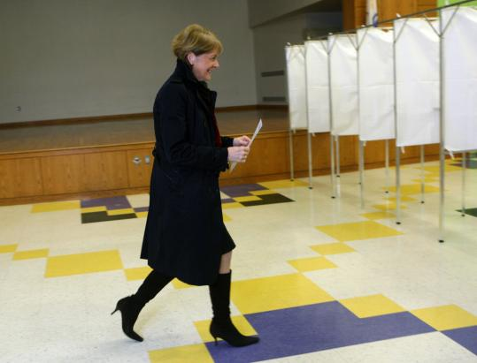 Martha Coakley cast her ballot at Brook Elementary School in Medford. Brown's upset triumph is certain to rattle Beacon Hill and send shockwaves well beyond the state's borders and into the fall midterm elections.