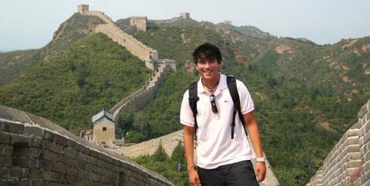 John R. R. Howie found his way to the Great Wall of China.