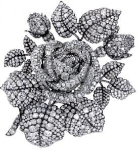 A 6-inch rose made of 2,637 Brazilian diamonds, crafted for Princess Mathilde, niece of Napoleon Bonaparte.