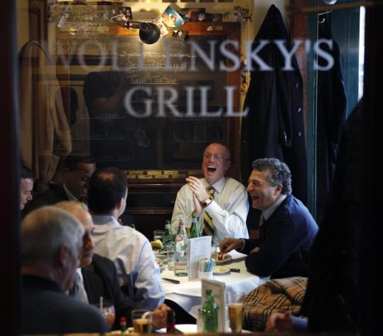 "Diners ate lunch yesterday at Smith & Wollensky in New York. ""They are taking away the pot of cash, and without that cash, there can't be a trickle-down effect,'' said owner Alan Stillman."