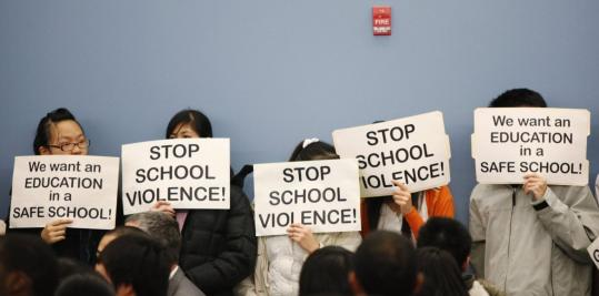 During a school board meeting last month, some South Philadelphia High School students expressed concerns about assaults on Asian students both on and off-campus. After the assaults, Asian students boycotted classes for more than a week.