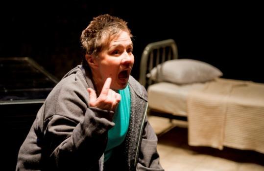 """Casey Seymour Kim plays a woman who sees no reason to live in """"4:48 Psychosis,'' at the Gamm Theatre in Pawtucket, R.I."""