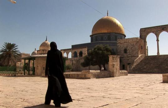 Because biblical prophecy locates the End of Days in Israel, the filmmakers focus on Christians who focus on the Holy Land. Pictured: A shot from the film of Al-Aqsa Mosque, built on the Temple Mount.
