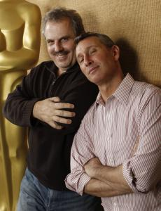 Academy Awards co-producers Bill Mechanic (left) and Adam Shankman had never met, though Shankman had danced on an Oscar show and Mechanic is a member of the Academy.