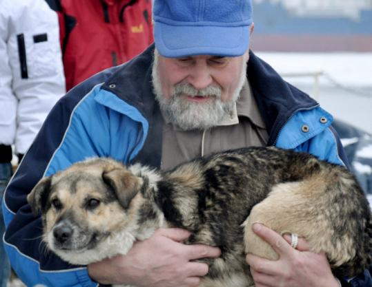The researchers who rescued the dog nicknamed him Baltic. Four people have tried to claim him.