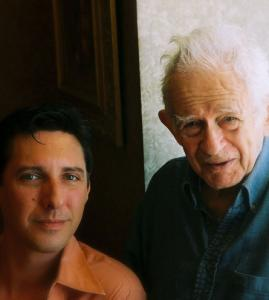"Norman Mailer (right) and his personal assistant Dwayne Raymond, author of ""Mornings with Mailer.''"