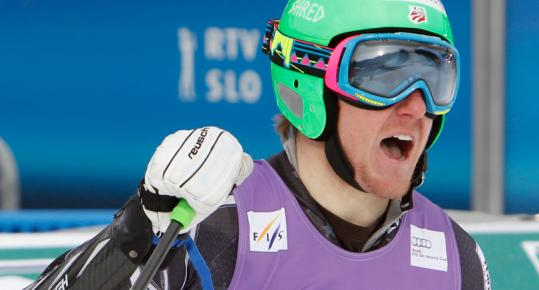 A change of venue was a stroke of luck for American Ted Ligety, who won the giant slalom for his first World Cup victory this season.