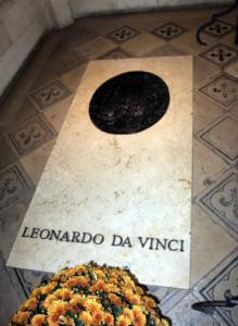 The reported tomb of Leonardo da Vinci is at Saint-Hubert Chapel in western France.
