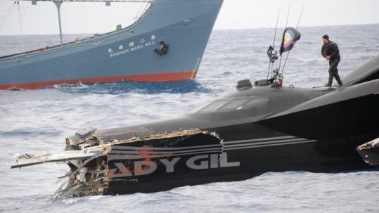 The Sea Shepherd Conservation Society lost a speedboat in Antarctica earlier this month when it collided with a Japanese whaling ship taking part in an annual whale hunt.