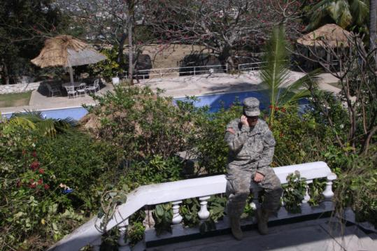 The US Army's 82d Airborne Division was allowed to set up relief efforts at the Petionville Club in Haiti.