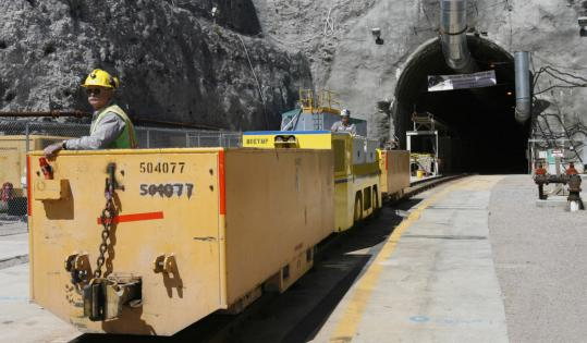 Worker Pete Vavricka conducted a train from the entrance of Yucca Mountain in Nevada. The Obama administration has pledged to close the planned burial ground for nuclear waste.