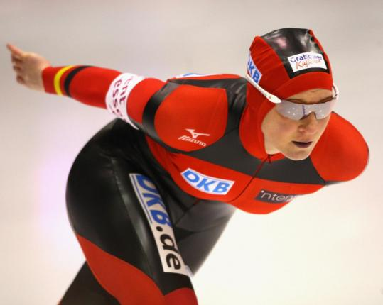 Abnormal blood levels detected by blood profiling will prevent German gold medalist Claudia Pechstein from competing.