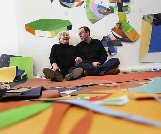Ellen Rich began pursuing a career in art after turning 40. Matthew Rich began creating at age 7. Now the two are sharing a show.
