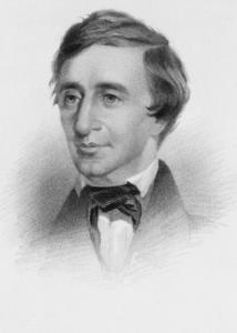 1855: Henry David Thoreau, circa 1855.