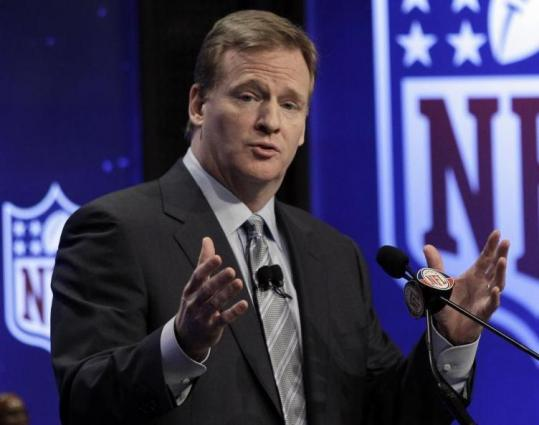 "NFL commissioner Roger Goodell said he's ""at the forefront'' in getting the players and owners to smooth out labor talks."