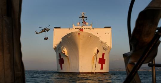 The ship, anchored off Port-au-Prince, is the last hope of survival for many of the quake?s most seriously wounded.