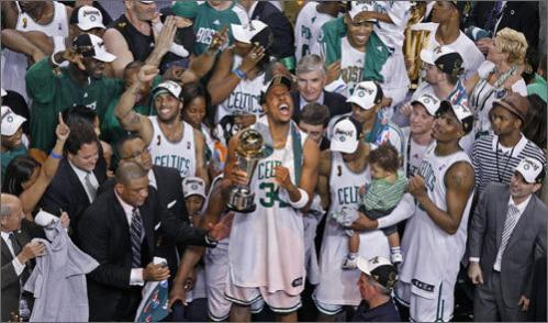 On June 17, 2008 Pierce's ultimate goal was finally achieved. The Celtics beat the Lakers in six games, clinching the title in a 29-point blowout. For his efforts throughout the series in which he averaged 21.8 points and made an NBA Finals record 22 3-pointers, Pierce won the Finals MVP.