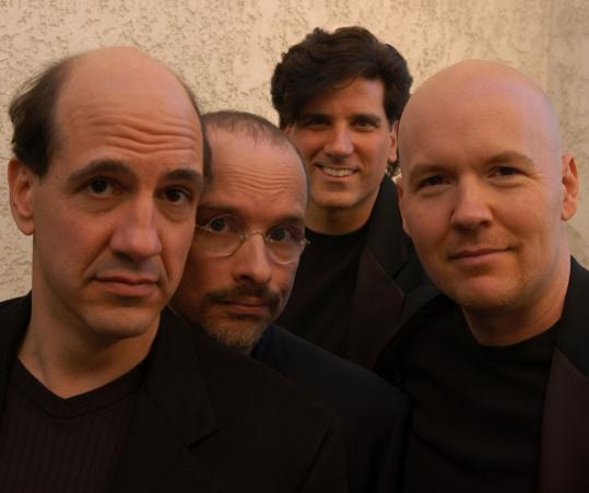 "A cappella group the Blanks - (from left) Sam Lloyd, Paul Perry, George Miserlis, and Philip McNiven - have found some success with the help of the TV show ""Scrubs.''"