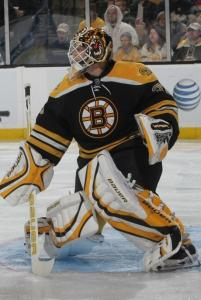 Vezina winner Tim Thomas has posted a 13-15-7 record in a hit-or-miss season.