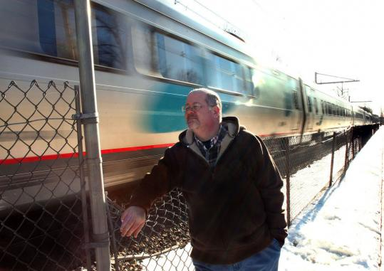 Steve Vale leaned on a weak point of a fence on George Street as an express train whizzed by at close to 100 miles per hour in Mansfield. His daughter died on the tracks in 2008.