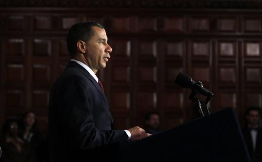"Governor David Paterson said the only way he'd leave office early ""is in a box.''"